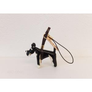 革ストラップ(K・I・G) シュナウザー ブラック×シルバー abcdogs