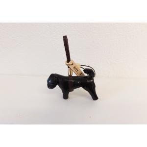 革ストラップ(K・I・G) 黒パグ abcdogs