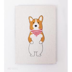 ファブリックパネル(ビアンカ) コーギー赤 abcdogs
