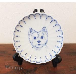 菊小皿(ABC-DOGS-tensh) ウェストハイランドホワイトテリア abcdogs