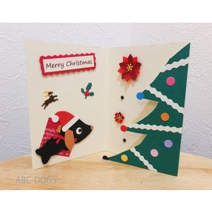 クリスマスボックス(ユングフラウの月) ダックス黒/緑|abcdogs