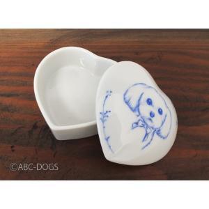 ハート小物入れM(ABC-DOGS-tensh) マルチーズ|abcdogs