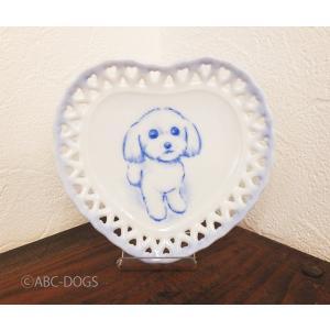 ハート小皿(ABC-DOGS-tensh) マルチーズ|abcdogs