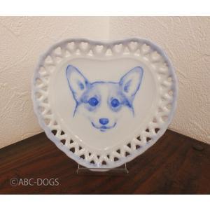 ハート小皿(ABC-DOGS-tensh) コーギー|abcdogs