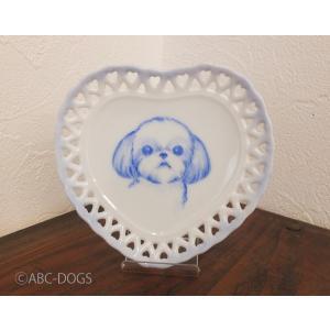 ハート小皿(ABC-DOGS-tensh) シーズー|abcdogs