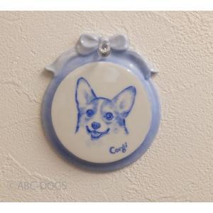 ミニプレート(ABC-DOGS-tensh) コーギー|abcdogs