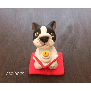 鏡餅(カワセミ工房) フレンチブル パイド abcdogs