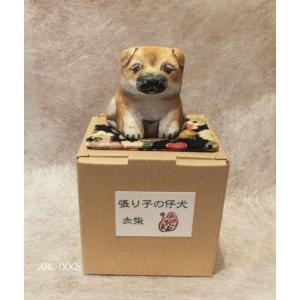 張り子の仔犬(張り子人形のやま) 赤柴(鼻黒)|abcdogs