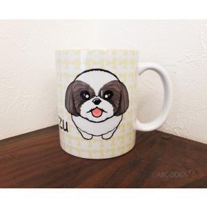 おねだりわんこマグカップ シー・ズー(グレー白)|abcdogs