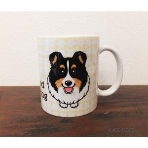 おねだりわんこマグカップ シェルティ(トライカラー)|abcdogs