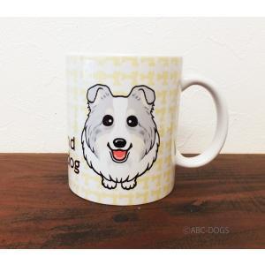 おねだりわんこマグカップ シェルティ(ブルーマール)|abcdogs