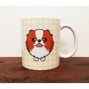 おねだりわんこマグカップ 狆(茶白)|abcdogs