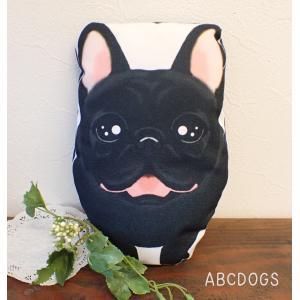ミニクッション(ぬいぐるみ) フレンチブル 黒|abcdogs