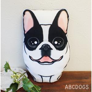 ミニクッション(ぬいぐるみ) フレンチブル パイド|abcdogs