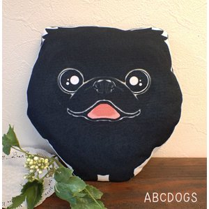 ミニクッション(ぬいぐるみ) ペキニーズ 黒|abcdogs
