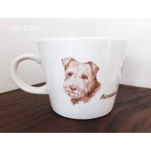 マグカップ(ABC-DOGS-tensh) エアデールテリア|abcdogs