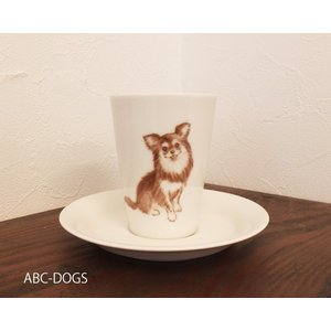 カップ&ソーサー(ABC-DOGS-tensh)  ロングコートチワワ|abcdogs