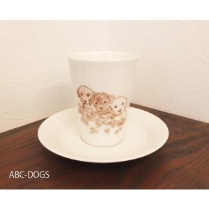 カップ&ソーサー(ABC-DOGS-tensh)  ラブラドルレトリバー|abcdogs