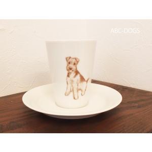 カップ&ソーサー(ABC-DOGS-tensh)  エアデールテリア|abcdogs