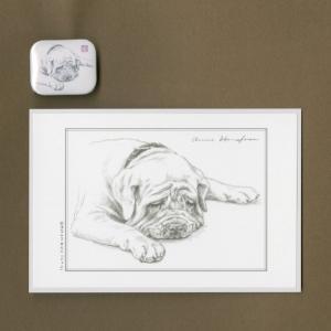 バッジ&ポストカード(はなふさ あんに) NO,101|abcdogs