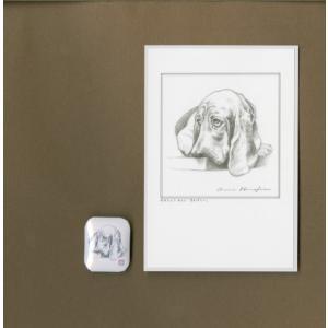 バッジ&ポストカード(はなふさ あんに) NO,102|abcdogs