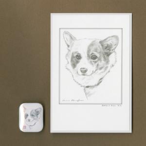 バッジ&ポストカード(はなふさ あんに) NO,111|abcdogs