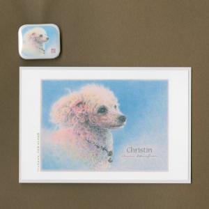 バッジ&ポストカード(はなふさ あんに) NO,167|abcdogs