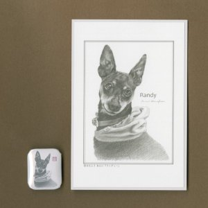 バッジ&ポストカード(はなふさ あんに) NO,170|abcdogs