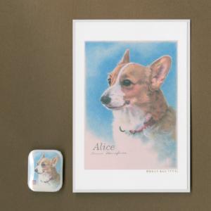 バッジ&ポストカード(はなふさ あんに) NO,176|abcdogs