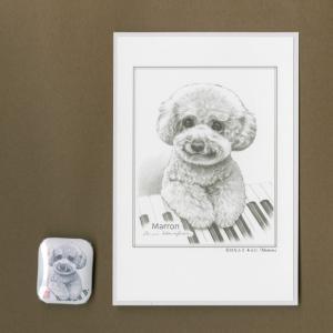 バッジ&ポストカード(はなふさ あんに) NO,394|abcdogs