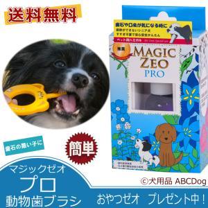 マジックゼオ プロ 動物歯ブラシ 犬用 歯磨き粉 すすぎ不要 黄ばみ 歯石除去