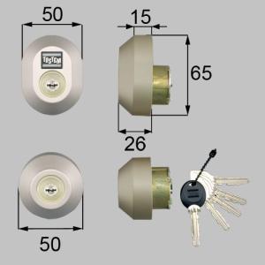 部品名 : ドア錠セット(MIWA URシリンダー)楕円 商品コード : DRZZ1004 色 : ...