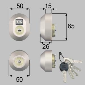 部品名 : ドア錠セット(MIWA DNシリンダー)楕円 商品コード : DDZZ3004 色 : ...