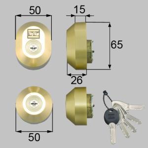 部品名 : ドア錠セット(MIWA DNシリンダー)楕円 商品コード : DDZZ3003 色 : ...