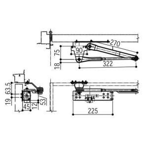 YKKAP メンテナンス部品 ドアクローザ (HH-4K-13835) BB:ブラウン|abcshop-yh-ten