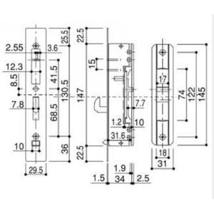 HH-3K-11457 YKKAP 召合せ 内締り錠 内部サムターン|abcshop-yh-ten