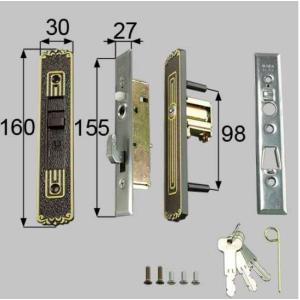 部品名 : 引戸召合せ内外錠セット(MIWA U5シリンダ−) 商品コード : L1Y31 色 : ...