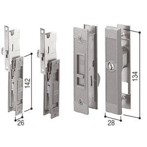 HHJ-0220 YKK KH-304 引戸錠セット2枚建用引き違い錠3点セット WESTキー3本付|abcshop-yh-ten
