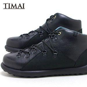 ティマイ TIMAI メンズ ブーツ チョガイ CHOGUY tihud002 01 (ブラック)(120910)|abich