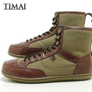 ティマイ TIMAI メンズ ブーツ リンチュ LINCHU tihud003 01 (ブラウン+ブラウン)(120910)|abich