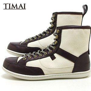 ティマイ TIMAI メンズ ブーツ リンチュ LINCHU tihud003 02 (ダークブラウン+オフホワイト)(120910)|abich