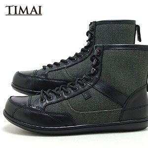ティマイ TIMAI メンズ ブーツ リンチュ LINCHU tihud003 03 (ブラック+ブラック(120910)|abich