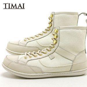 ティマイ TIMAI メンズ ブーツ リンチュ LINCHU tihud003 04 (オフホワイト+オフホワイト)(120910)|abich