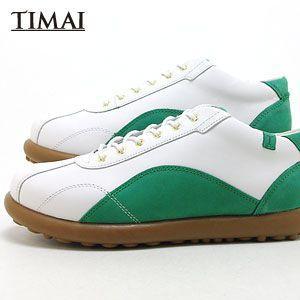 ティマイ TIMAI メンズ ブーツ カンショウ KANSHO tihud005-02 (ホワイト+グリーン)(130311)|abich