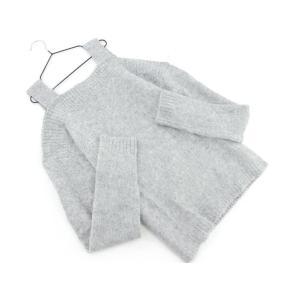 MICOAMERI ミコアメリ オープンショルダー ニット セーター sizeF/グレー ◇■ ☆ ...