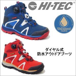 HI-TEC ハイテック トレッキング ブーツ アウトドア シューズ メンズ 登山靴 ハイキング 防水 ダイアル 3E ハイカット tmhttrm723 送料無料|ablya