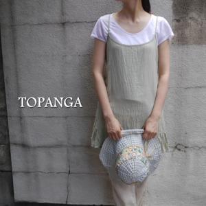 TOPANGA by CHICKAWA  キャミソールチュニック グリーン|abracadabra