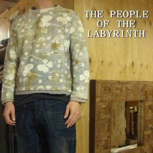 The People Of The Labyrinths ピープルオブザラビリンス スウェットニット ライトグレー|abracadabra
