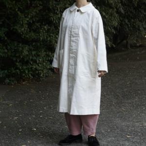 ICHI(イチ) 丸襟比翼コート オフホワイト|abracadabra