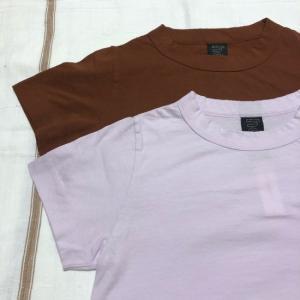 homspun (ホームスパン) 天竺半袖Tシャツ ブラウン/ピンク|abracadabra